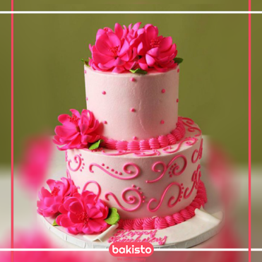 Swell Romantic Birthday Cake For Wife All About Cakes Online Magazine Funny Birthday Cards Online Overcheapnameinfo
